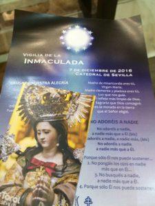 Vigilia de la Inmaculada Concepción en la Catedral de Sevilla